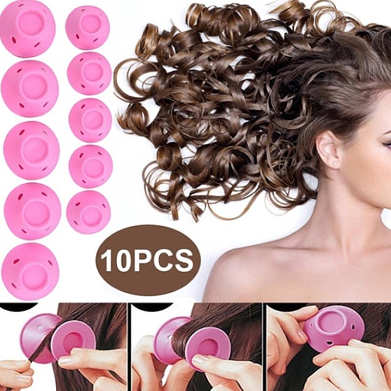 10pcs Manual Hair Curlers Rollers Magic