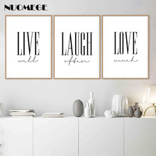 Live Laugh Love Posters and Prints Nordic Style Simple Wall Art Postre for Living Room Decorative Pictutes Home Decor