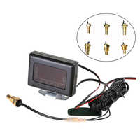 Modified Car Truck Auto Instrument Accessories 12V 24V Universal Digital Tool Water Temperature Gauge With Sensor Professional