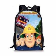 acdeda202a9 Cartoon Brandweerman Sam schooltassen Rugzakken kids orthopedische  schooltas satchel voor jongens meisjes studenten mochila escolar boek