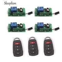 Control remoto Sleeplion relé 12V 10A 1CH Switch 3 transceptor con 4 receptores 315 MHz/433 MHz Control remoto inalámbrico controles remotos     -