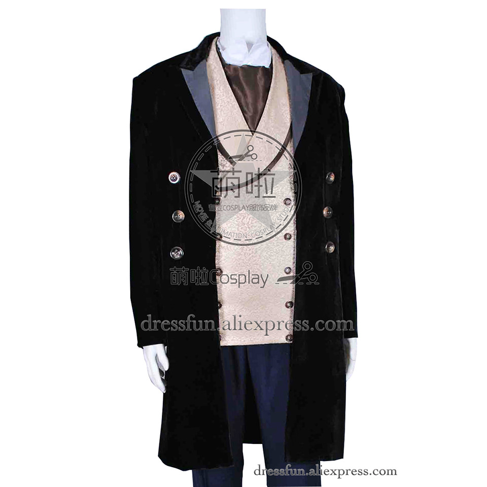 Doctor Who 8th Dr Paul McGann Cosplay Costume Suit Outfit Halloween Costume A831