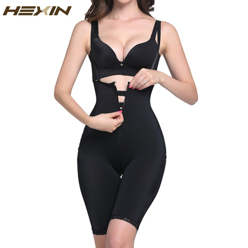41d19d86420ce HEXIN Full Body Shaper with Butt Lifter Fajas Clip and Zip Latex ...