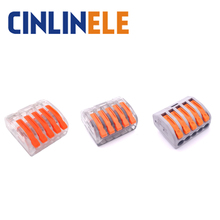 10pcs mini fast WAGO Connector 222-415 PCT-215 Universal Compact Wire Wiring Connector 5 pin Conductor Terminal Block