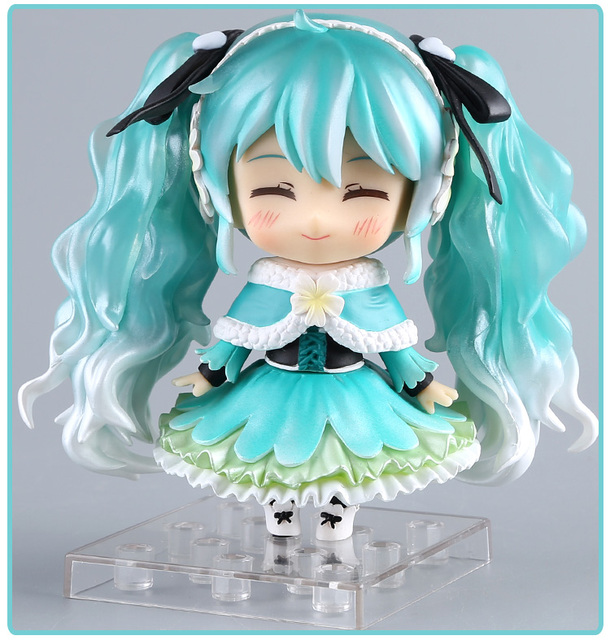 Anime Hatsune Miku Action Figure Snow Miku #047 Nendoroid Cute Ver. Toy 10cm