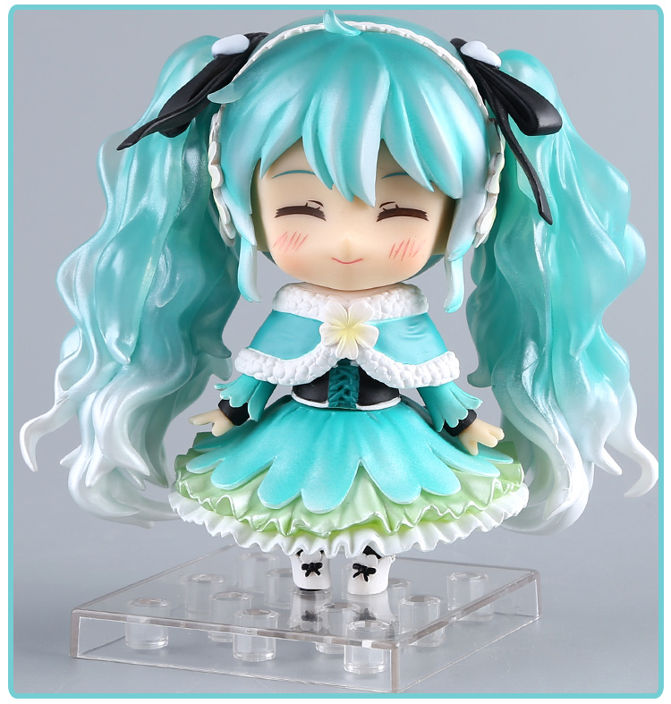 Anime Hatsune Miku Action Figure Snow Miku #047 Cute Ver. Toy 10cm