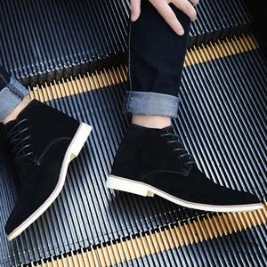 Image 5 - VESONAL Zapatillas altas de cuero para hombre, zapatos masculinos con felpa de pelo, cálidos, informales, clásicos, cómodos, para otoño e invierno, 2020