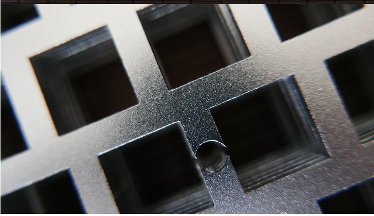 Placa de posicionamiento de acero inoxidable GH60 RGB60 JM60 60% - Periféricos de la computadora - foto 2