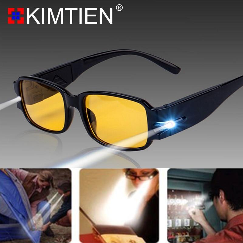 Aufrichtig Lesebrille Lupe Brillen Oculos Gafas Con Luz Led De Lectura Hombre Vasos Leesbril Lentes Mujer Große Vision Brillen Männer