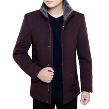 2017 plus size 8XL 7XL Brand Winter Jacket Men Thick Warm Down Jacket Mens Autumn Outerwear Zippers Fleece Parka Mens Solid Coat