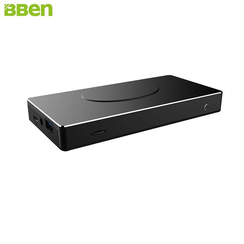 BBEN Intel Mini PC Windows 10 Intel APL N3450 Quad Core 4G RAM 32G ROM 64G SSD Option HDMI RJ45 TypeC PC Mini Computer PC Stick