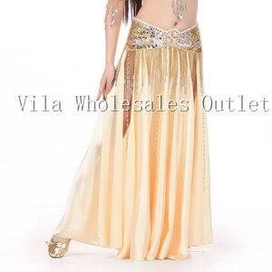 Image 2 - Belly dance skirt dancing skirt indian bellydance skirt 1pc skirt only 14 color 702#