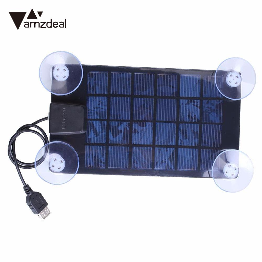 Amzdeal High Quality 14.5 * 10cm Solar Power Charger DC 6V 2.5w Ultra Thin Solar Panel USB 2.0 Camping Traveling Riding Outdoor