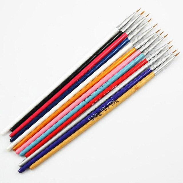 Gt 12 Pcs Colorful Nail Art Design Brush Pen Fine Details Tips