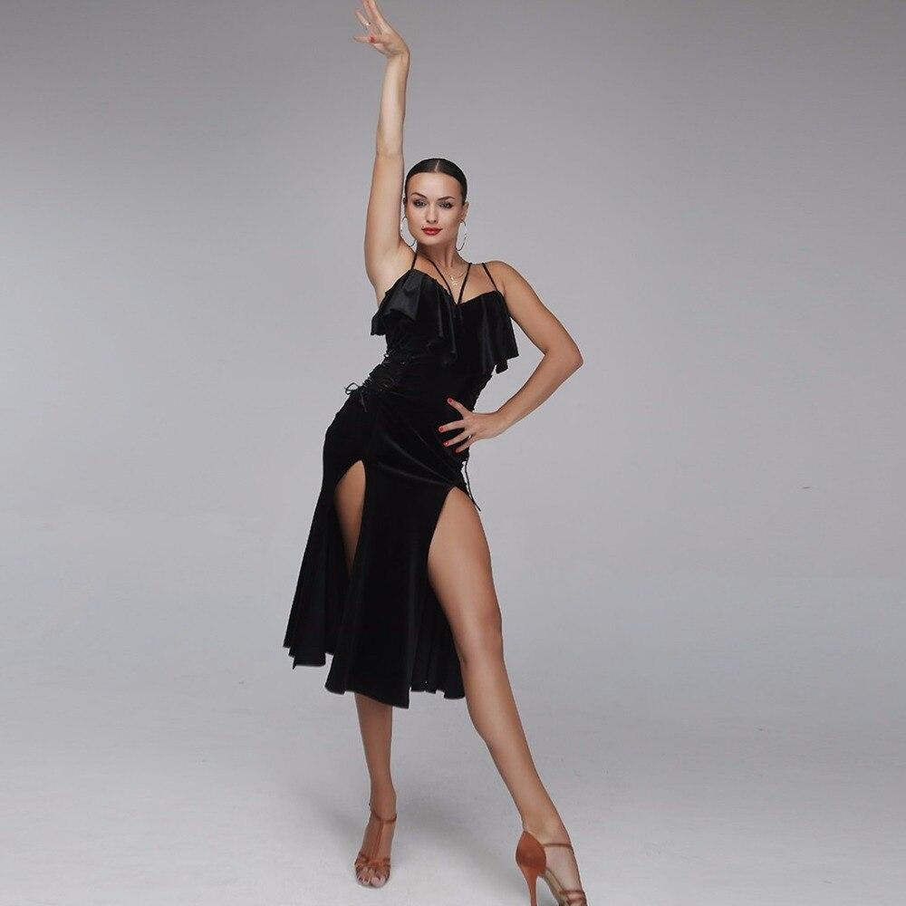 Image 5 - latin dance dress women latin style dress samba costume salsa  dress latin practice wear dance costumes black velvet dance wearsamba  costumelatin dance dress womenlatin dance dress