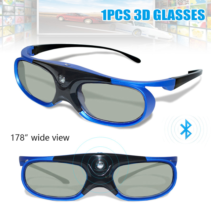 Bluetooth 3D Active Shutter Glasses High Definition Glasses for DLP Link Projector TV SP99 in Projector Accessories from Consumer Electronics