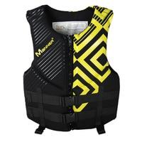 Manner Men's Fishing Vest Adult Water Sport Safety Life Vest Foam Flotation Swimming Life Jacket Buoyancy Vest Snorkeling Vest