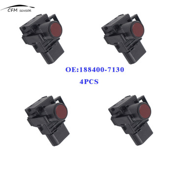 4pcs New 188400-7130  PDC Parking Ultrasonic Sensor Red Color For Toyota
