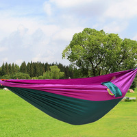 25 Available Color Double Person Portable High Strength Fabric Camping Hammock Hanging Bed Net Sleeping Hammock