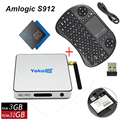 KB2 Pro Smart TV Box Android 6.0 TV Box Amlogic Octa S912 núcleo Bluetooth Dual Band WiFi 4 K Media Player + I8 Mini Teclado Inteligente