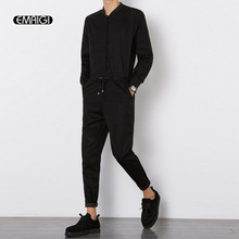 2016 autumn new men jumpsuit male long sleeved casual harem pant overalls hip hop fashion trousers
