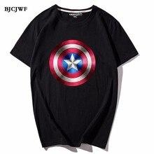 Superman Captain America Venom Printed Fashion T shirt men Short Sleeve 100% cotton Tees summer Male Marvel Movie Tops oversize