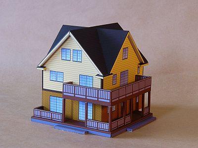 Free shipping 3D paper model Yakuchinone nice house paper