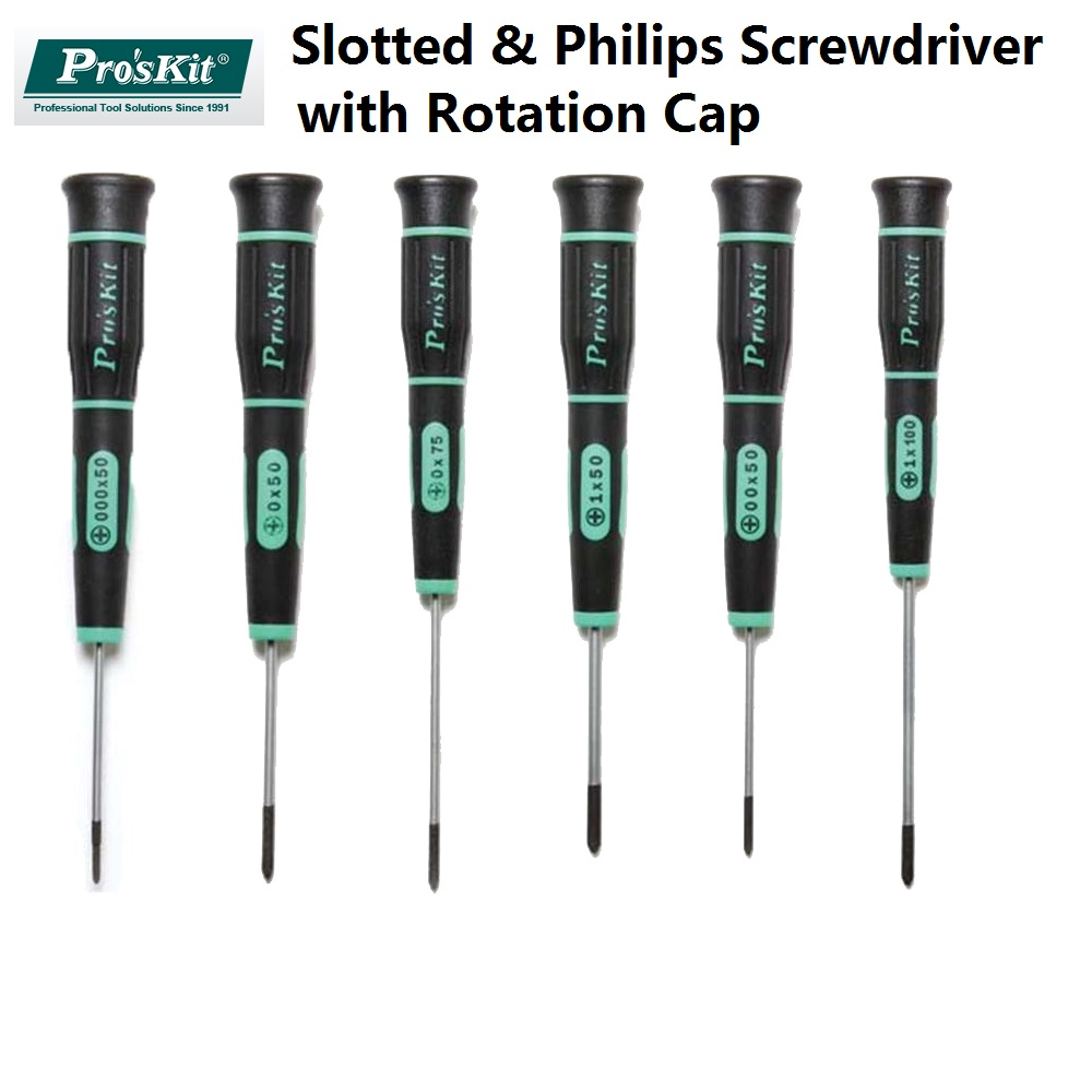 ProsKit Precision Slotted Philips Screwdriver with rotation cap Free Choices Kit for Cell Phone PSP Camera Computer DIY repair