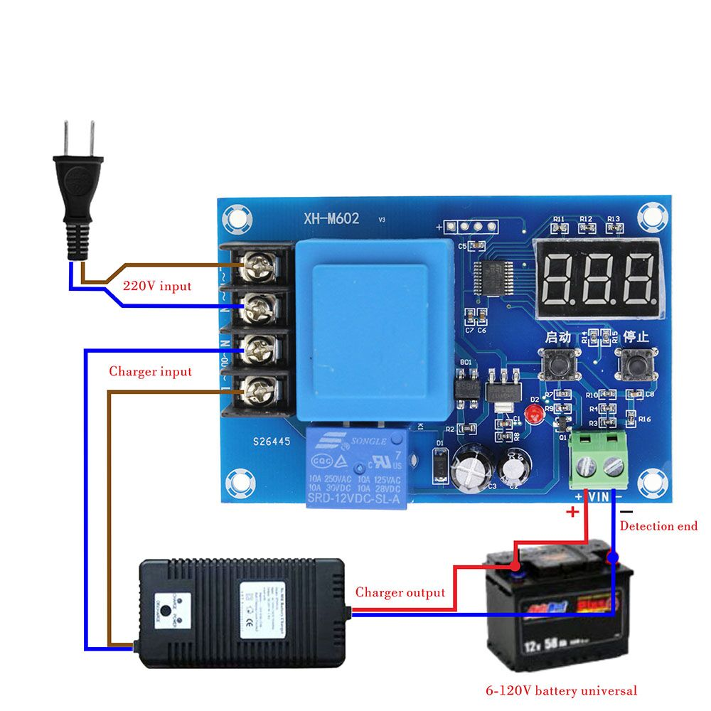 Высокое качество XH-M602 цифровой Управление Батарея литиевых Батарея зарядки Управление модуль Батарея зарядки Управление переключатель за...