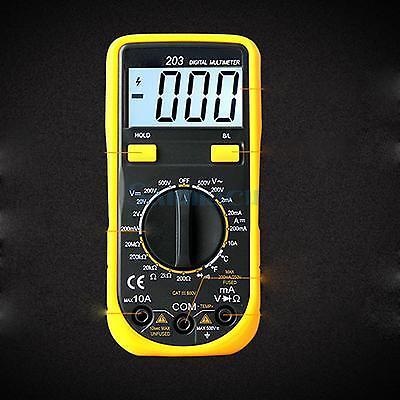VC203 Backlight LCD Digital Multimeter DC/AC Voltmeter Ohmmeter Temperature Diode Tester