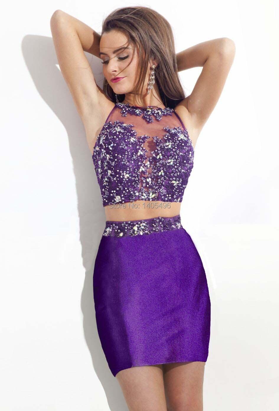 Online Shop 2014 New Arrival Rhinestone Beaded Lace Applique Short ...