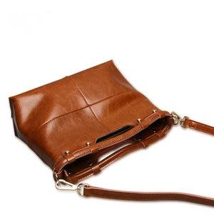 Image 4 - Brand New Fine design Cowskin handbag women casual tote bag fashion Genuine leather shoulder bags female handbag A37