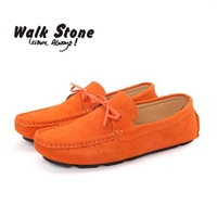 Brand Spring Men Gommino Driving Real Suede Leather Soft Boat Shoes Breathable Male Casual Flats Slip