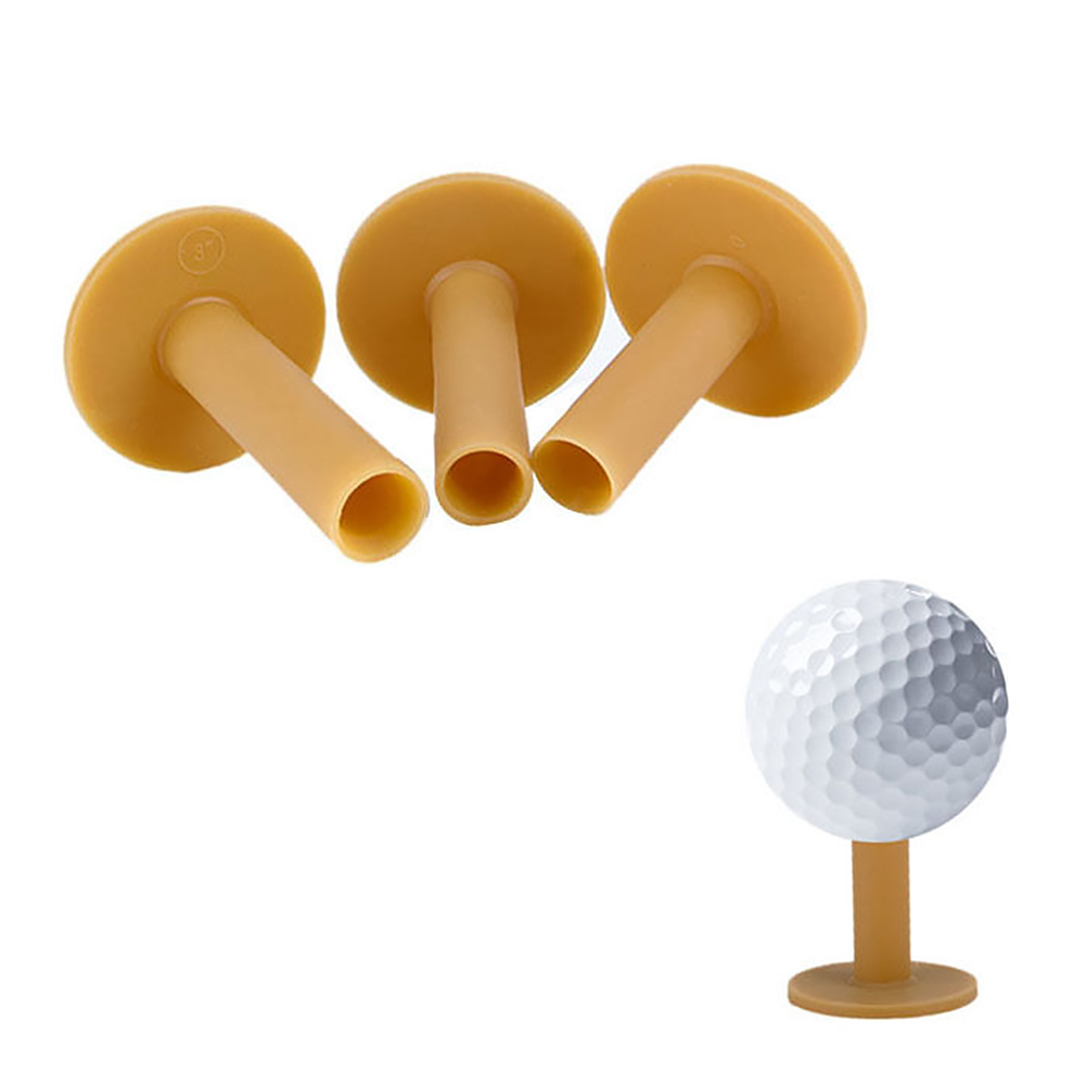3pcs Play Golf Tee Outdoor T-shape Driving Range Durable Mini Practical Training Mixed Size Practice Mat Sport Rubber