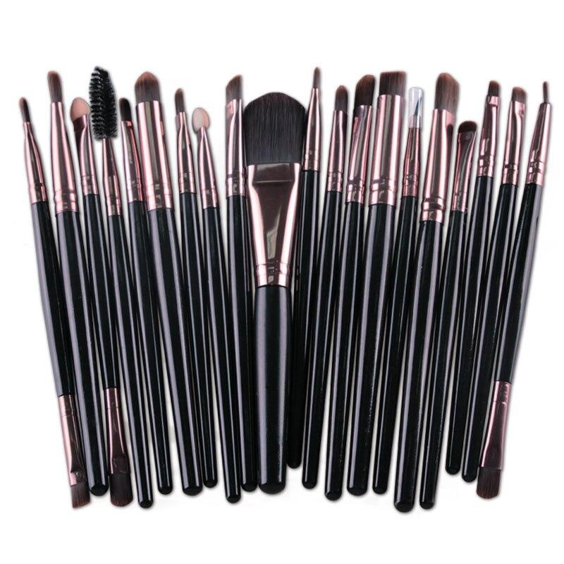 20pcs Eyes Brushes Set Eyeshadow Eyebrow Eyelashes Eyeliner Lip Makeup Brush Sponge Smudge Brush Cosmetic pincel maquiagem (12)