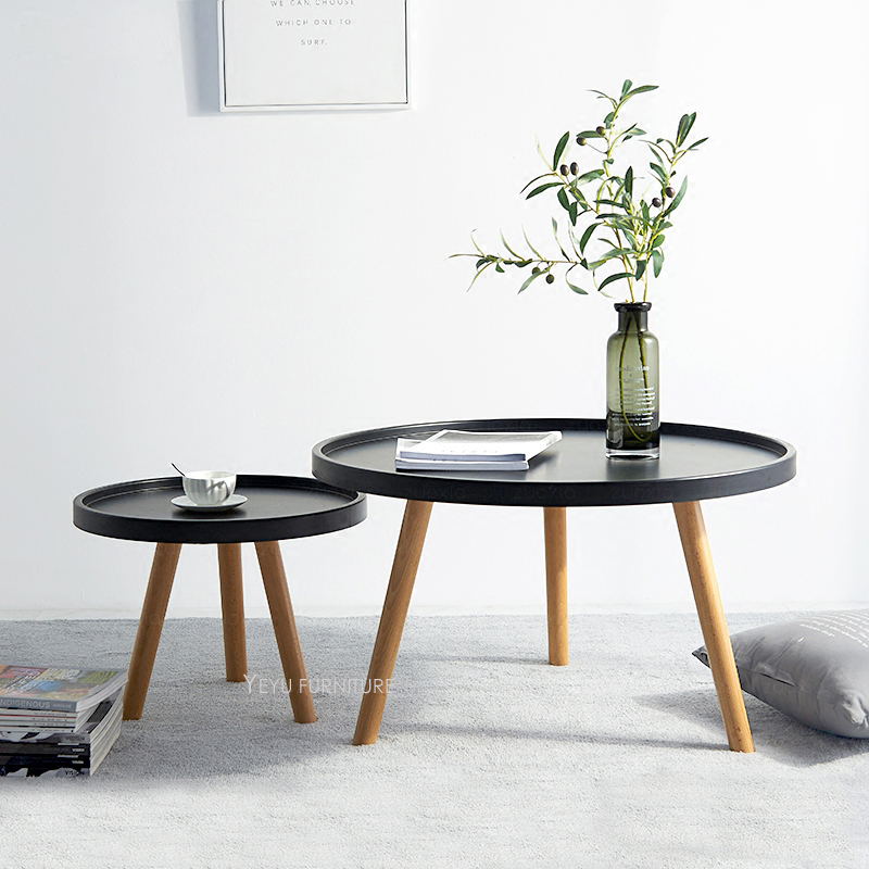 Modern Design Solid Wooden Small big High Low Side Table ...