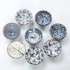 Ceramic Under Glazed Color Blue and White Porcelain Master Tea Cups Printing Retro Hatside Cups