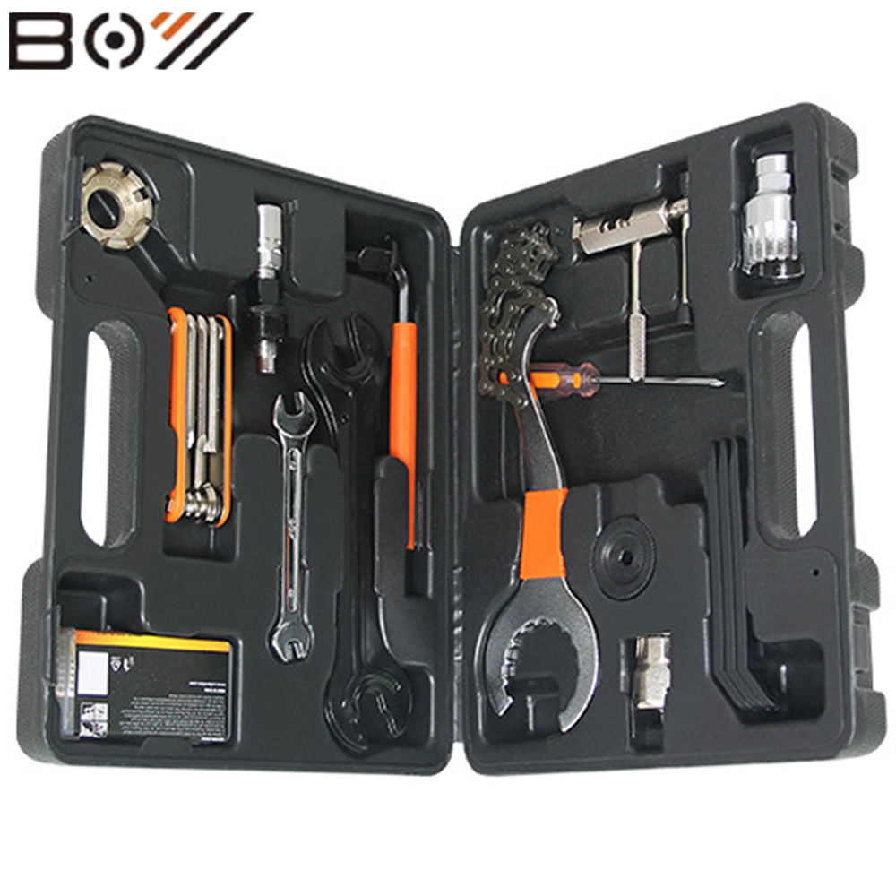 BOY Bicycle Repair Tools Set Kit Case Universal For Mountain Bike Road Bicycle 44 in 1 set Cycling Repair Tool Bicycle Parts jiangdong engine parts for tractor the set of fuel pump repair kit for engine jd495