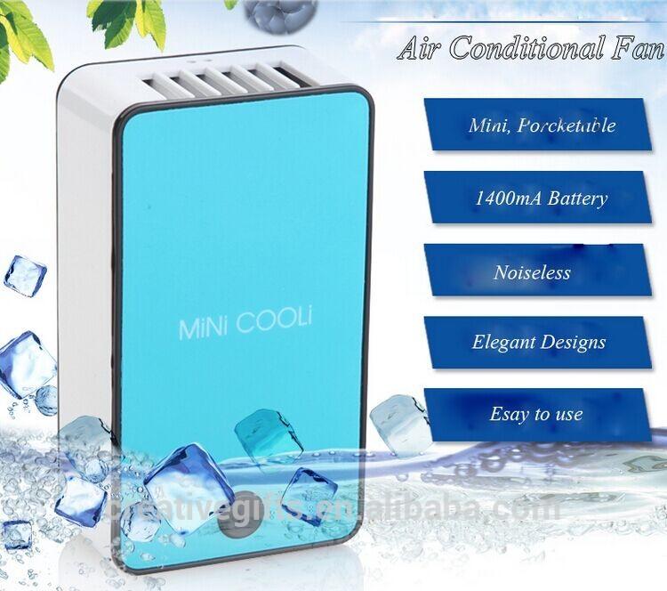 Cooling Usb Mini Batterij Oplaadbare Pocket Bladeless Ventilator Luchtkoeling Ventilator Airconditioner Kantoorventilator