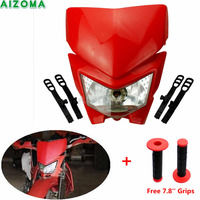 Dual Sport Motorcycles S1/12v/35w Headlight Fairing StreetFighter Dirt Bike Mask For Honda XR CR CRF CRE CRM 50/125/250/350/450