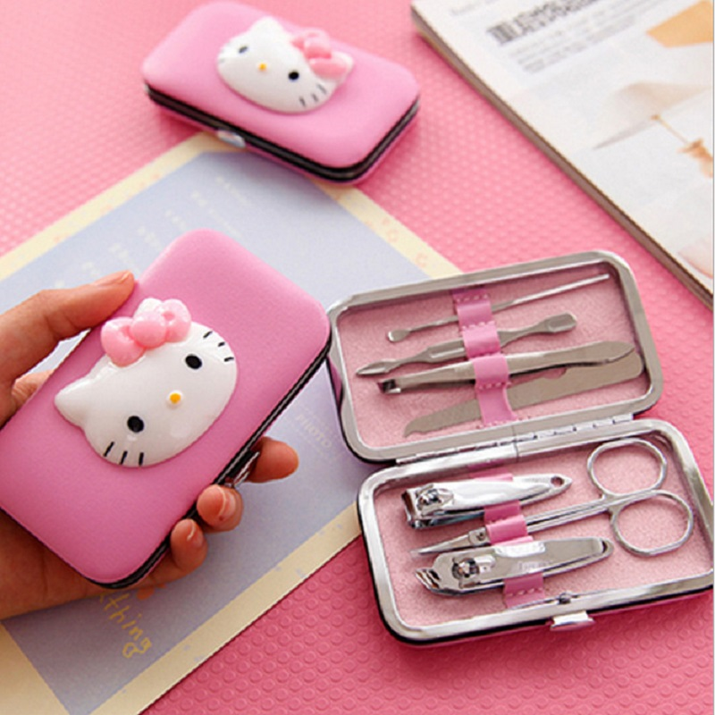 HELLO KITTY children's makeup nail clippers nail scissors set beauty nail set gift girls toys games for girl hello kitty makeup image