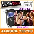 2015 venda quente novo profissional respiração polícia Digital Alcohol Tester bafômetro AT818 frete grátis 10 pcs boquilhas