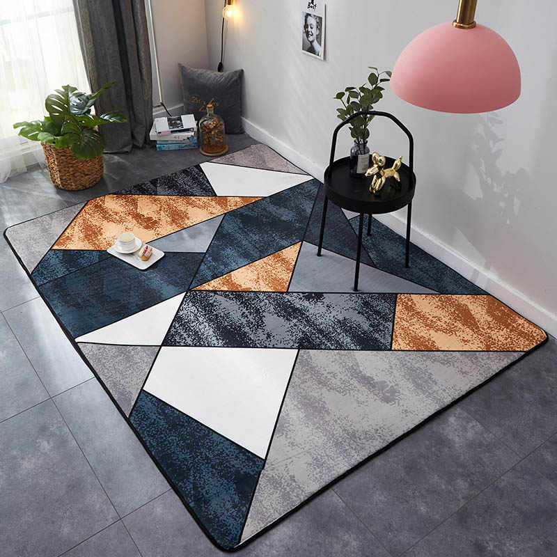 Прямоугольный ковер Хрустальный бархат Геометрический стиль нескользящий ковер и ковры для дома гостиная/спальня/кухня коврики alfombra 1 шт