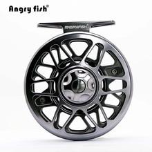 Angryfish Full Metal Fly Fishing Reel 2+1BB Aluminum Alloy Die Casting Fly Reel Fishing Reel with Large Arbor fly reel