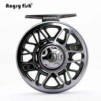Angryfish Full Metal Fly Fishing Reel 2 1BB Aluminum Alloy Die Casting Fly Reel Fishing Reel