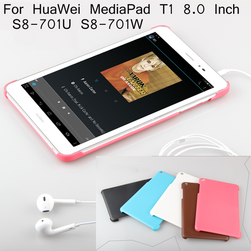 PC Leather Case For HuaWei MediaPad T1 8.0 Inch S8-701U S8-701W T1-821w Tablet Case + Screen Protector + Good Package