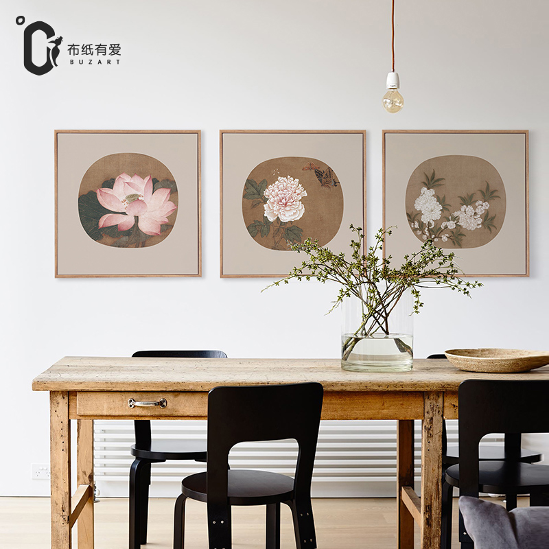 Chinese famous flowers Chinese ink paintings for living room Wall canvas pictures Home decoration No Frame