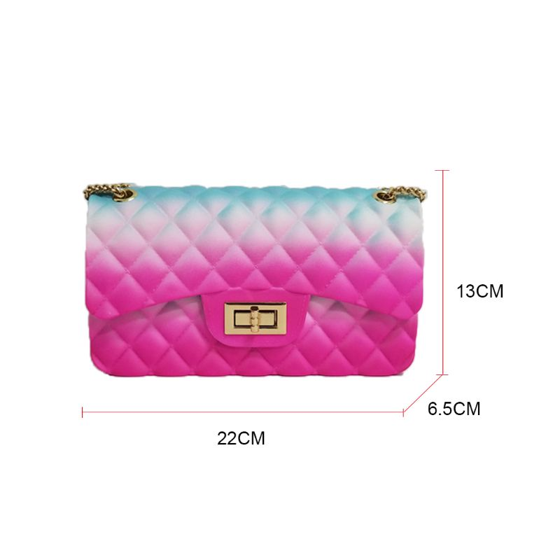 Women Fashion Shoulder Bag Mini Clutch Handbag Crossbody Bags with Chain Strap Satchel in Top Handle Bags from Luggage Bags