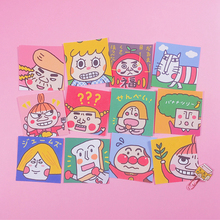 12Pcs/Packs Cartoon Funny Pattern Waterproof Card Sticker Kawaii Stationary Album Decoration Stickers Scrapbooking