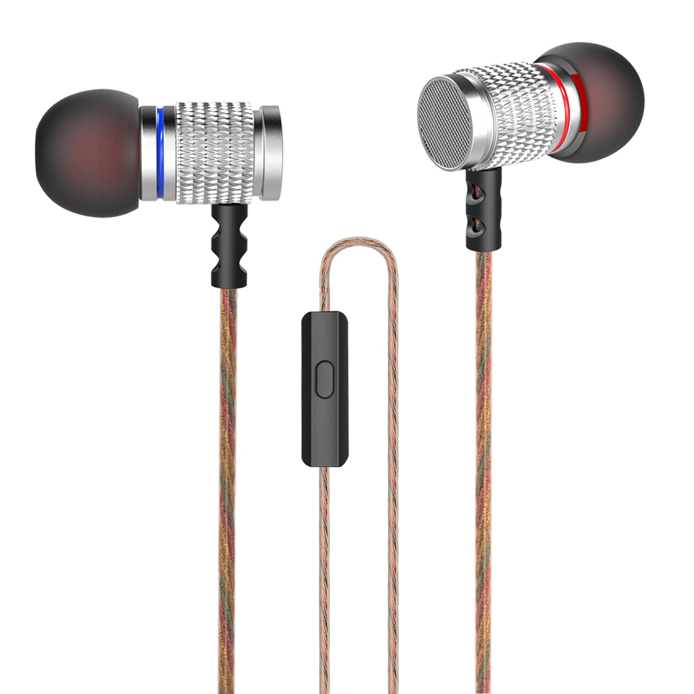 Original KZ ED Stereo Earphone KZ-ED2 In-Ear Earphone Metal Heavy Bass Sound Headset Earbuds With Microphone For Phone xiaomi